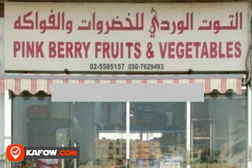 Pink Berry Fruits & Vegetable