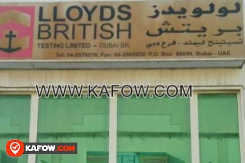 Lloyds British Testing Ltd