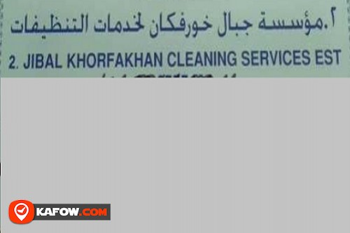 Jibal Khorfakhan Cleaning Services Est.