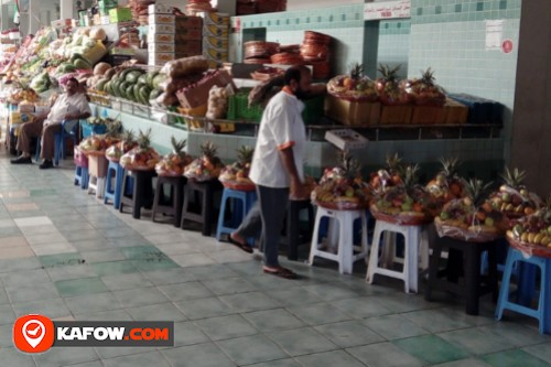 Vegetable and fruit market