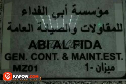 Abi Al Fida Gen. Cont. & Maint.Est.