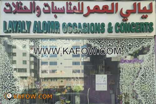 Layaly Alomr Occasions & Concerts