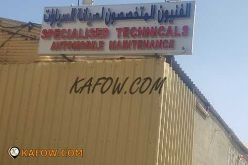 Specialised Technicals Automobile Maintenance
