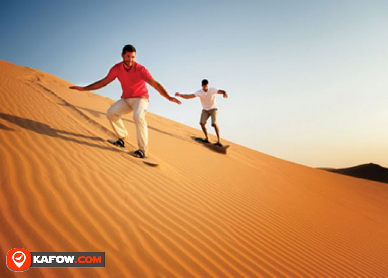 Learn about sand skiing in the desert of the Emirates